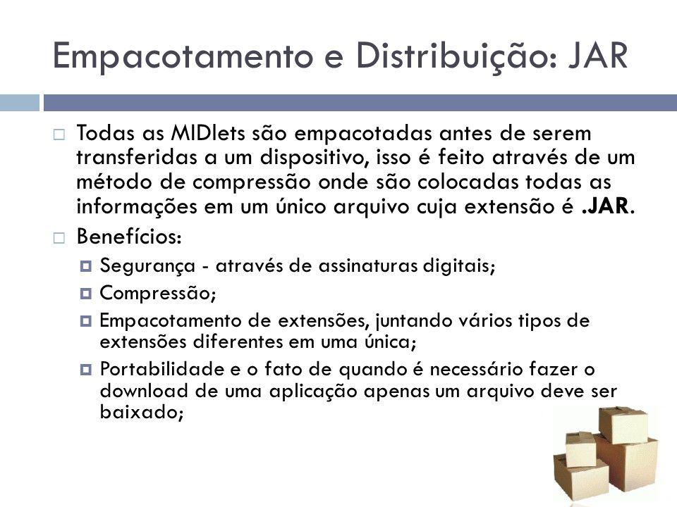 Empacotamento e Distribuição: JAR