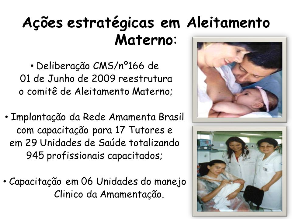 Ações estratégicas em Aleitamento Materno: