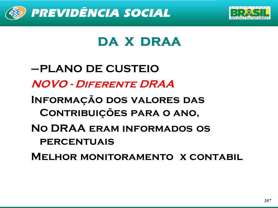 DA X DRAA PLANO DE CUSTEIO NOVO - Diferente DRAA