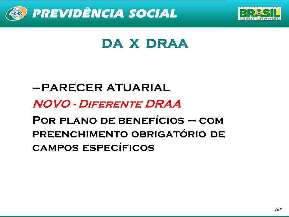 DA X DRAA PARECER ATUARIAL NOVO - Diferente DRAA