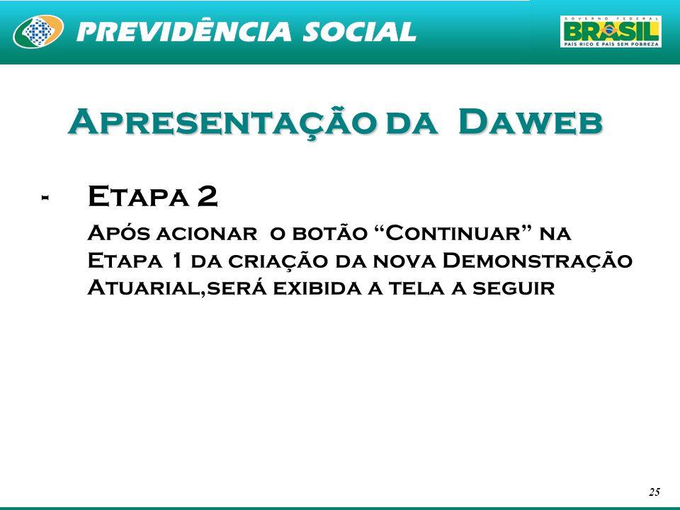Apresentação da Daweb Etapa 2