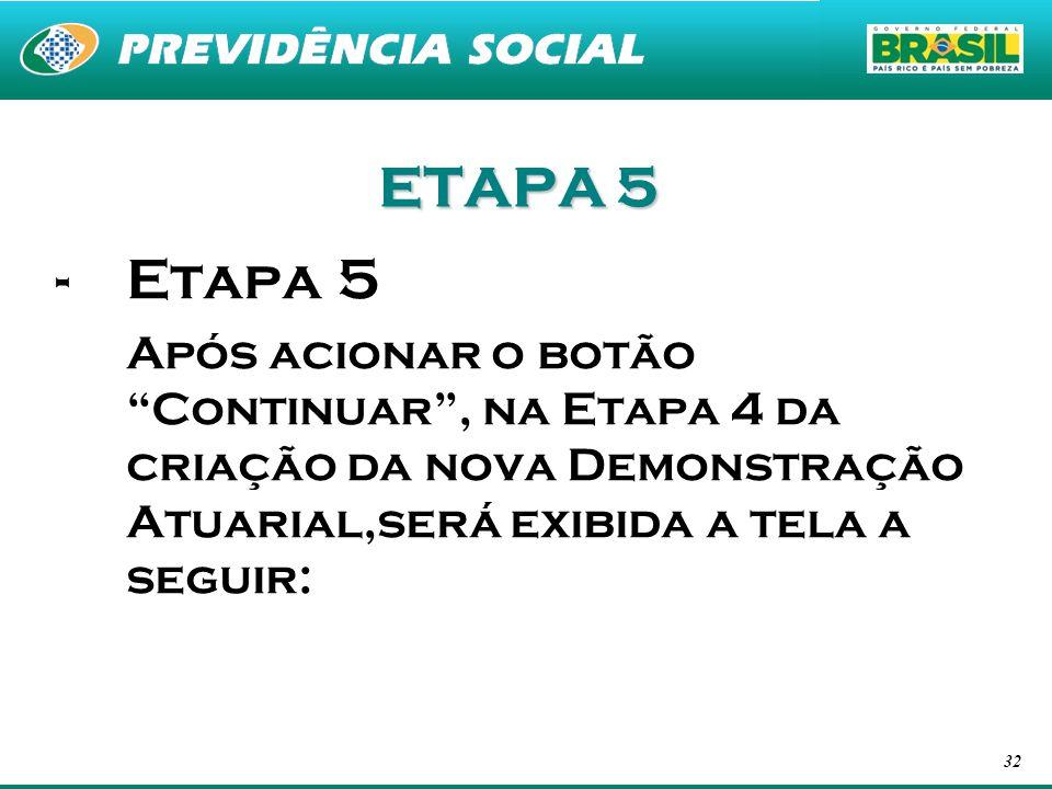 ETAPA 5 Etapa 5.