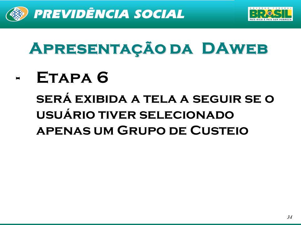 Apresentação da DAweb Etapa 6