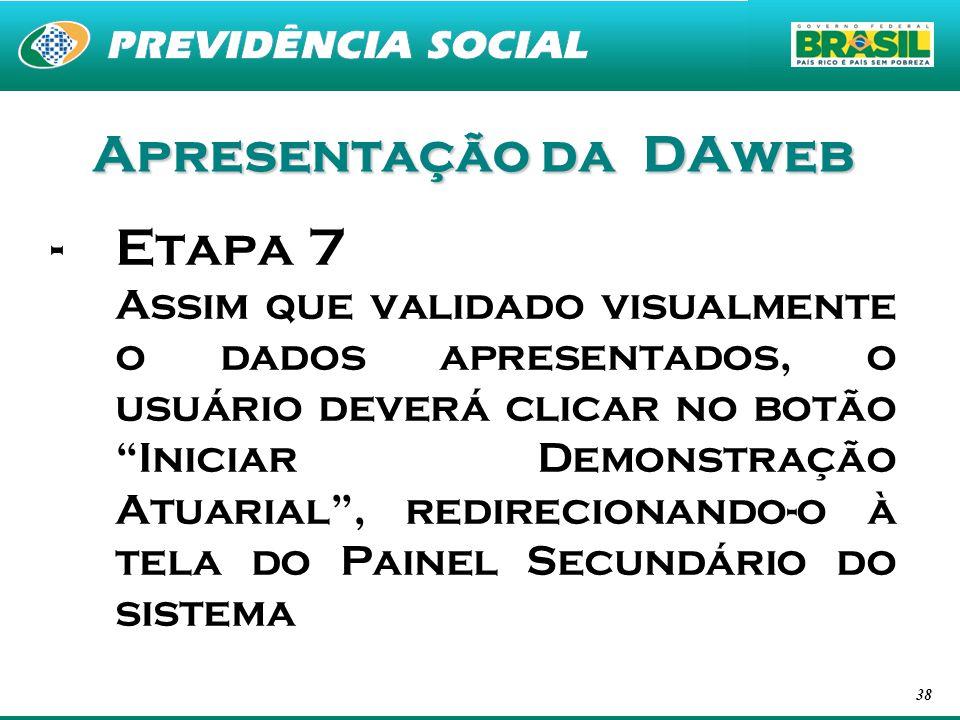 Apresentação da DAweb Etapa 7