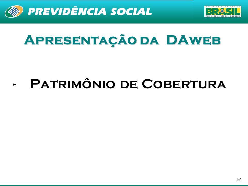 Apresentação da DAweb Patrimônio de Cobertura