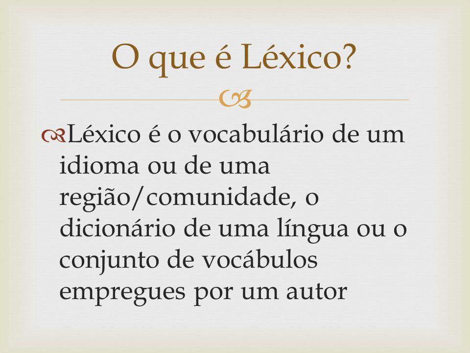 O que é Léxico