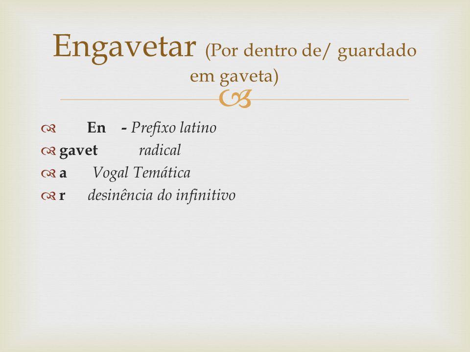 Engavetar (Por dentro de/ guardado em gaveta)