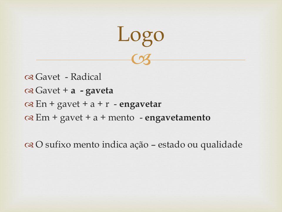 Logo Gavet - Radical Gavet + a - gaveta En + gavet + a + r - engavetar