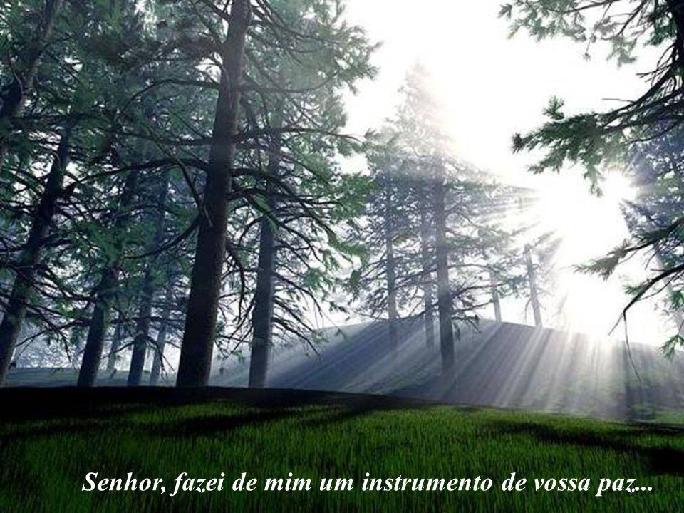 Senhor, fazei de mim um instrumento de vossa paz...