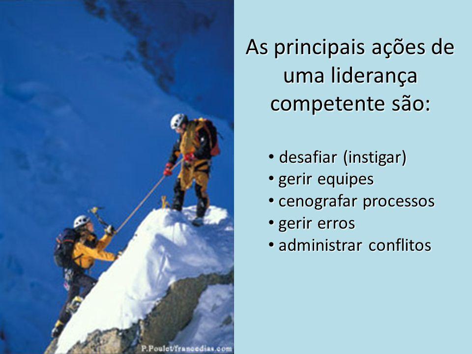 As principais ações de uma liderança competente são: