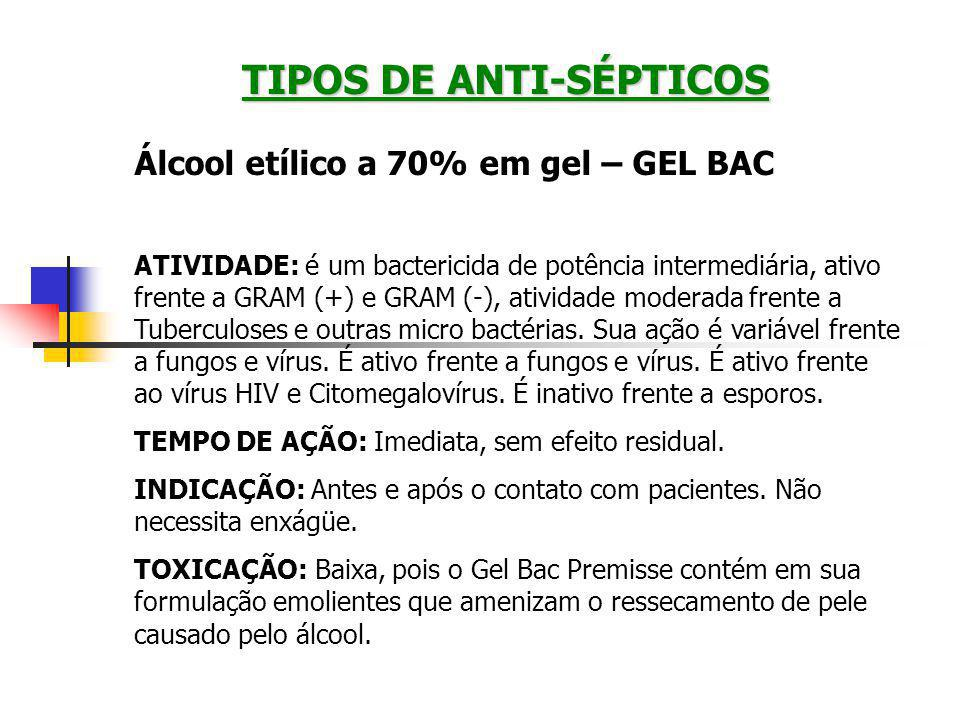 TIPOS DE ANTI-SÉPTICOS