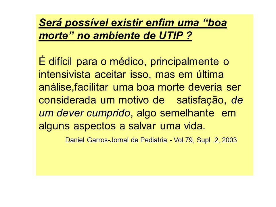 Será possível existir enfim uma boa morte no ambiente de UTIP