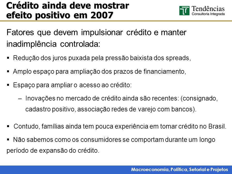 Crédito ainda deve mostrar efeito positivo em 2007