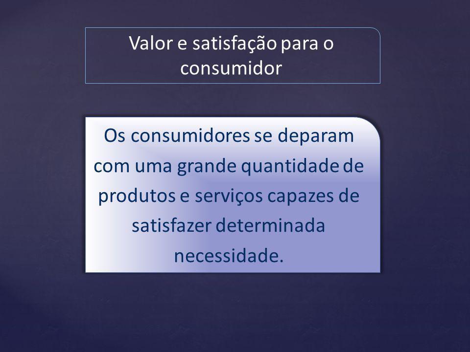 Valor e satisfação para o consumidor