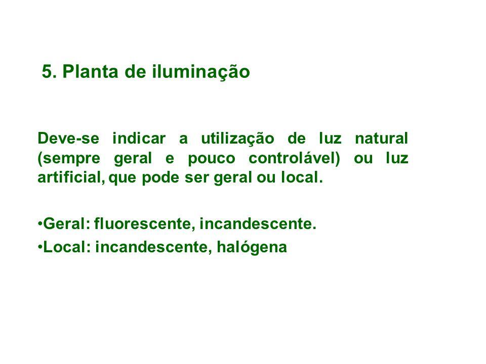5. Planta de iluminação