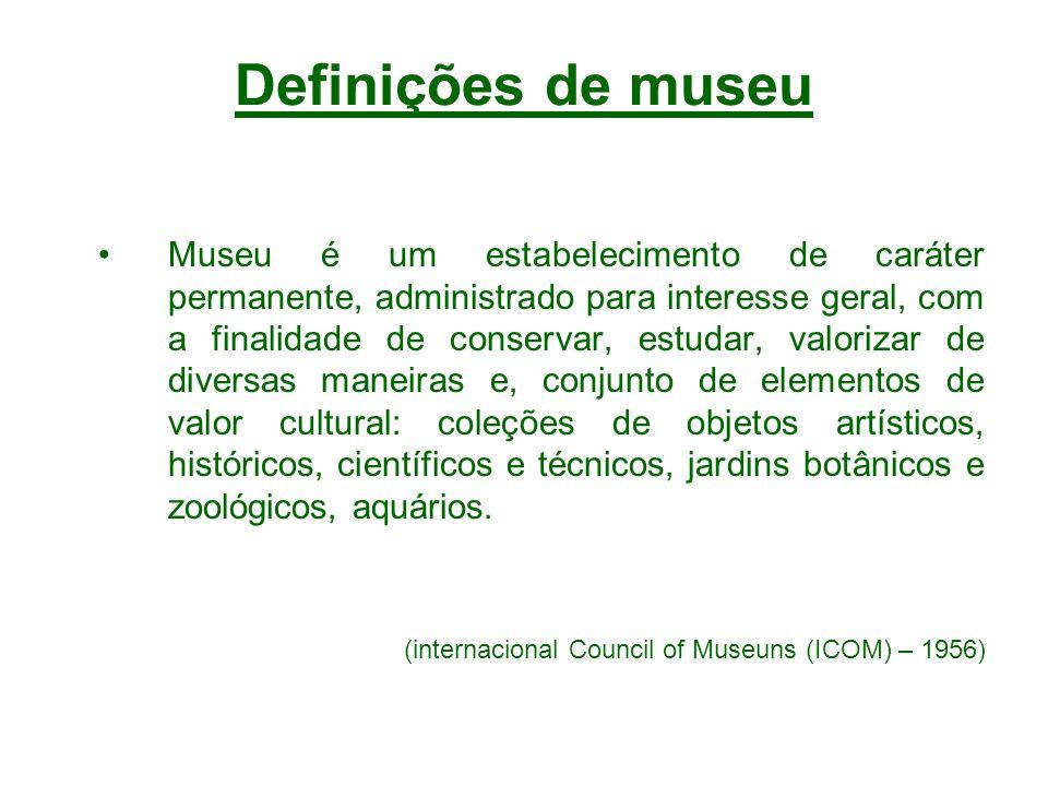 Definições de museu