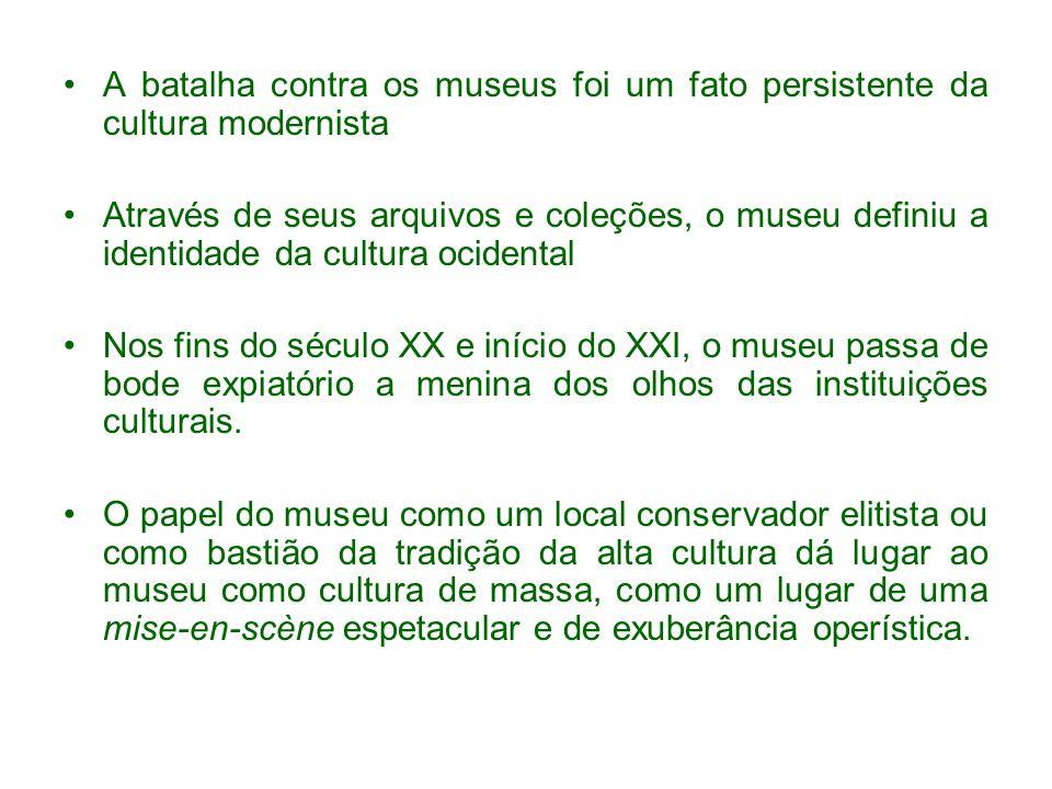 A batalha contra os museus foi um fato persistente da cultura modernista
