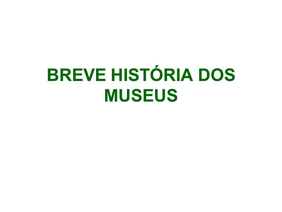 BREVE HISTÓRIA DOS MUSEUS