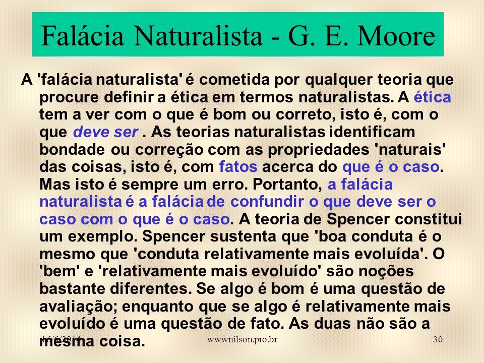 Falácia Naturalista - G. E. Moore