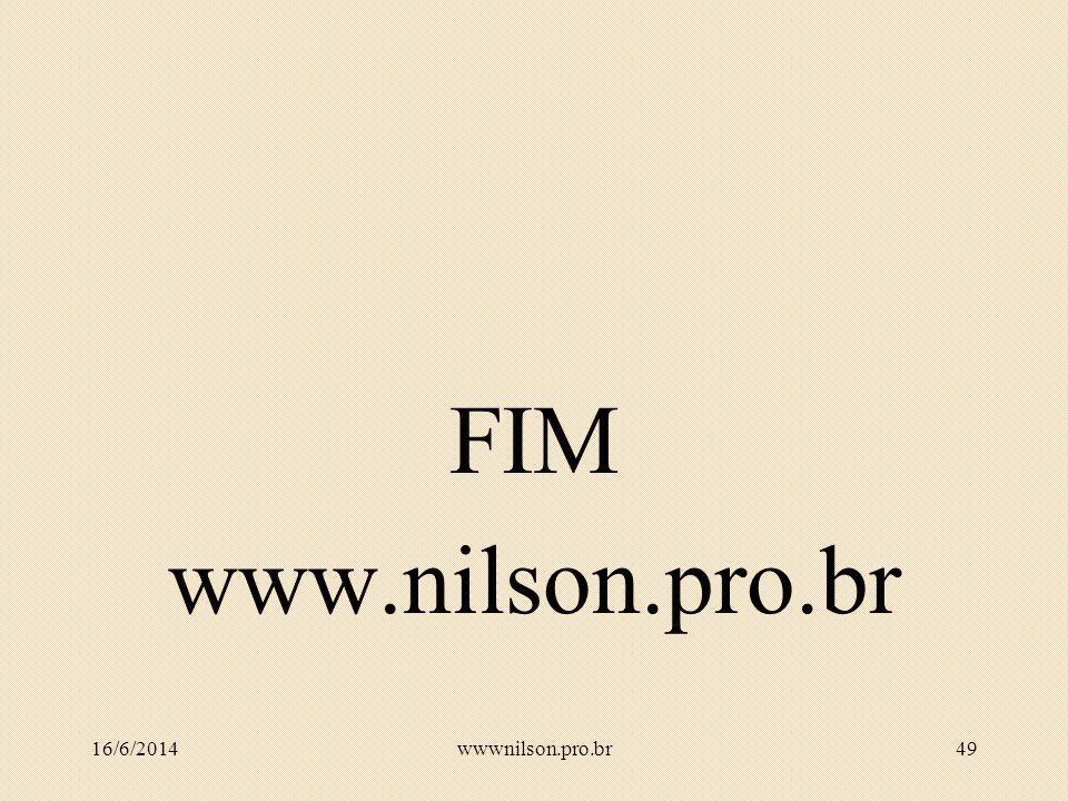 FIM www.nilson.pro.br 02/04/2017 wwwnilson.pro.br