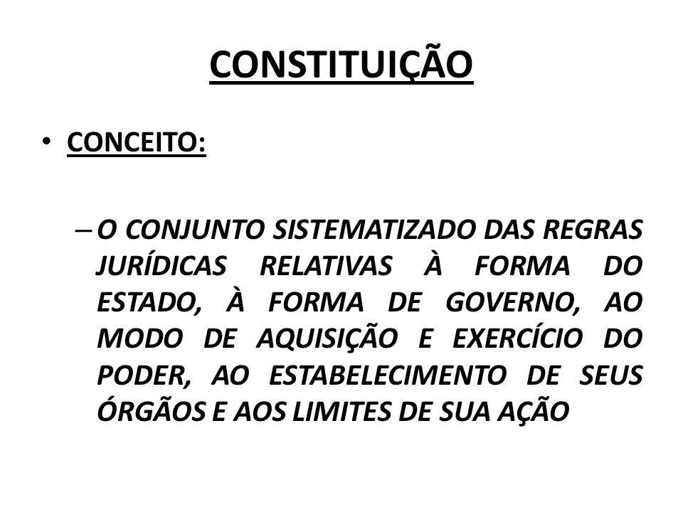 CONSTITUIÇÃO CONCEITO: