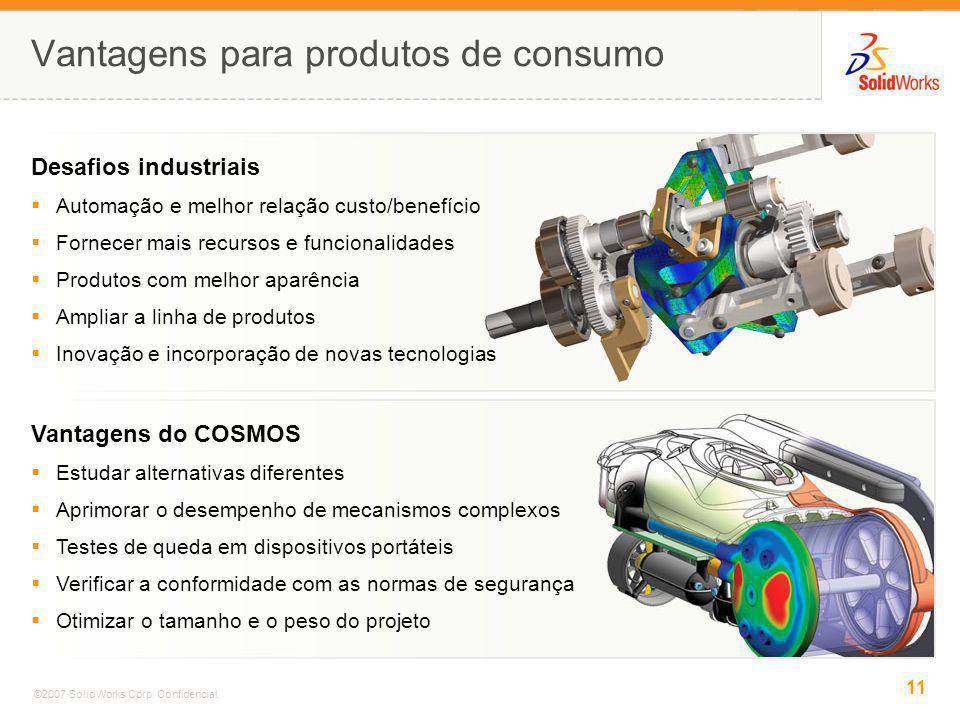 Vantagens para produtos de consumo