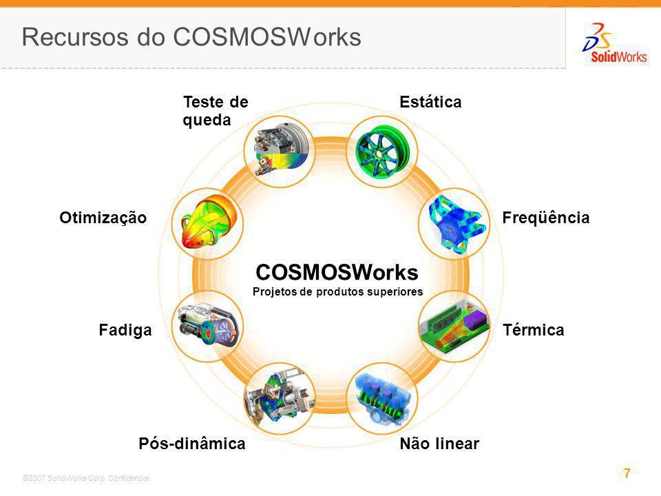 Recursos do COSMOSWorks