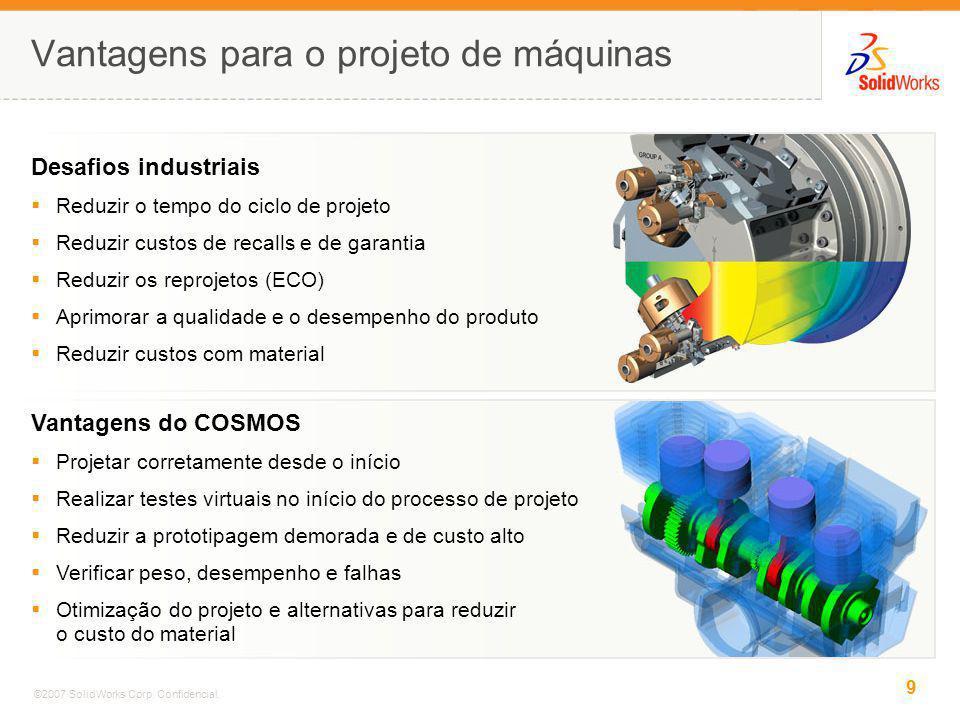 Vantagens para o projeto de máquinas