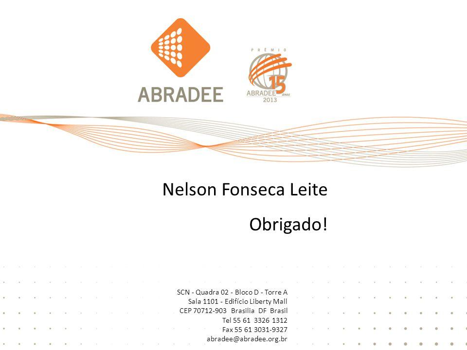 Nelson Fonseca Leite Obrigado! SCN - Quadra 02 - Bloco D - Torre A