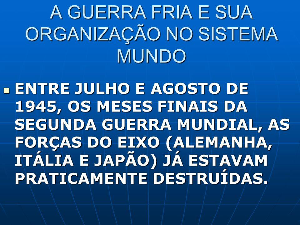 A GUERRA FRIA E SUA ORGANIZAÇÃO NO SISTEMA MUNDO