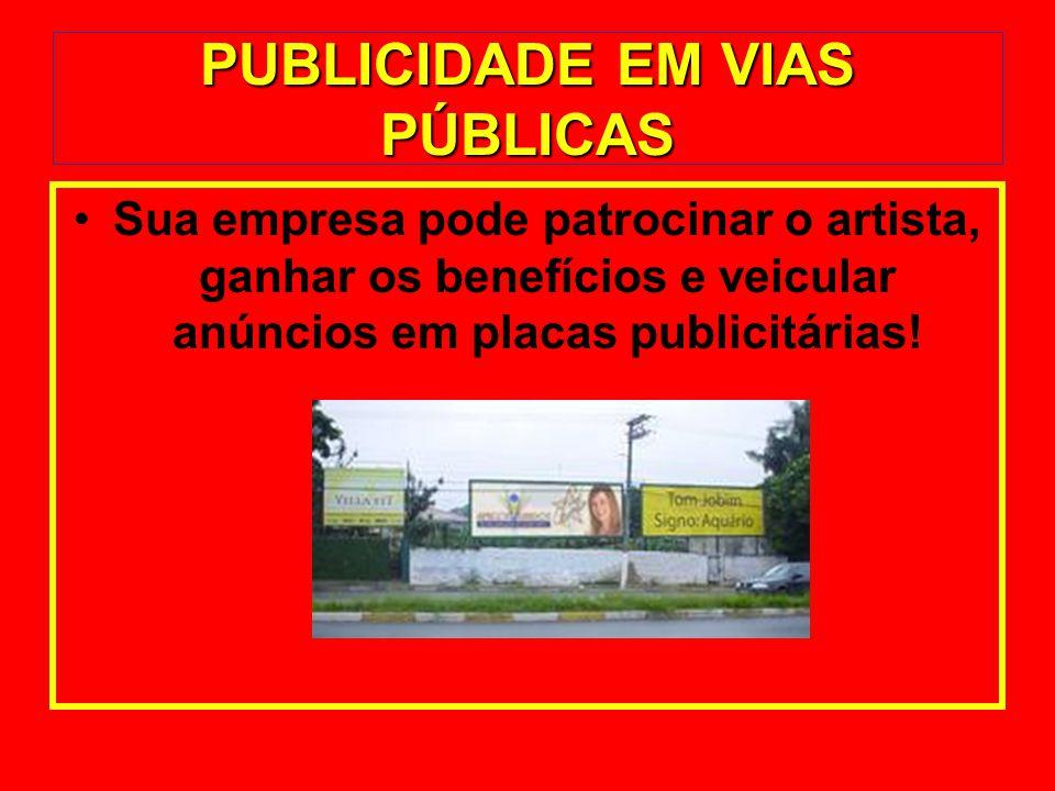 PUBLICIDADE EM VIAS PÚBLICAS