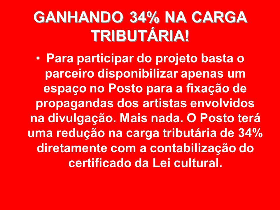 GANHANDO 34% NA CARGA TRIBUTÁRIA!