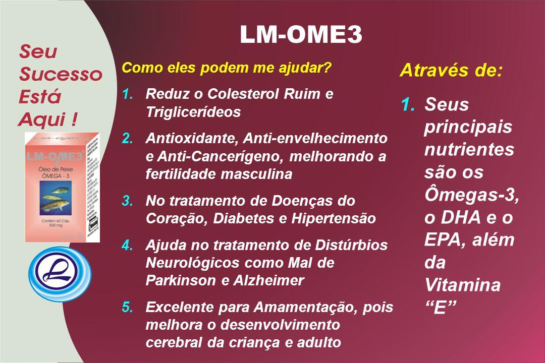 LM-OME3 Como eles podem me ajudar Reduz o Colesterol Ruim e Triglicerídeos.