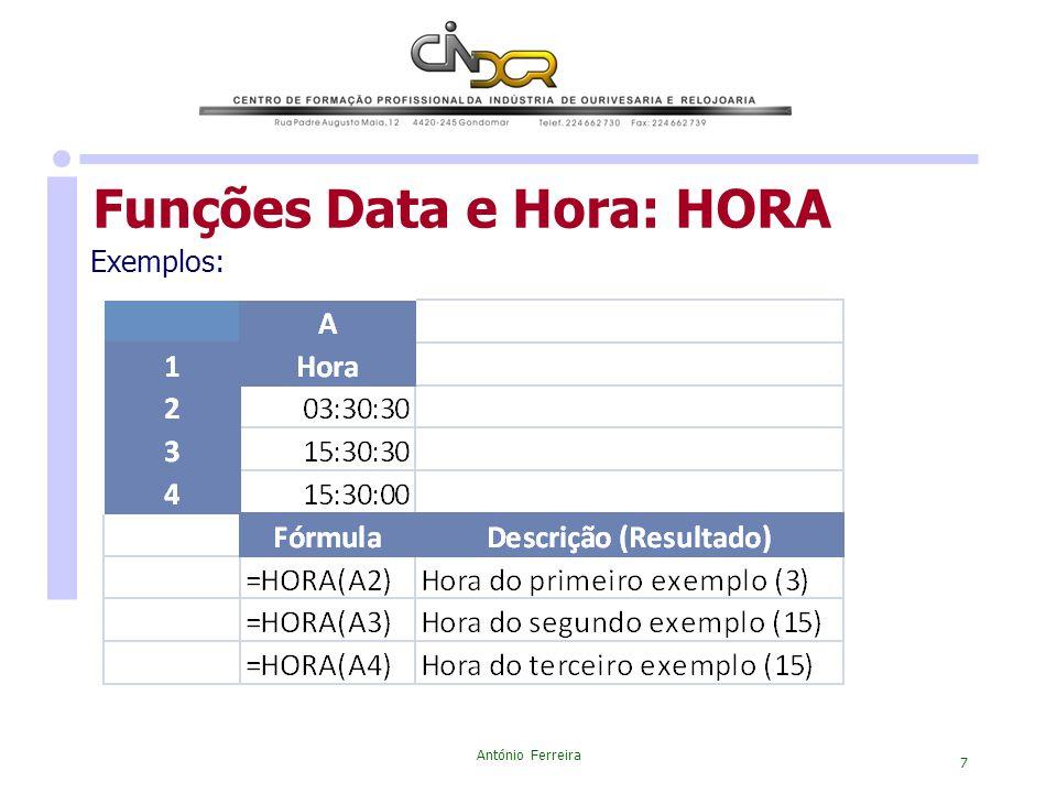 Funções Data e Hora: HORA