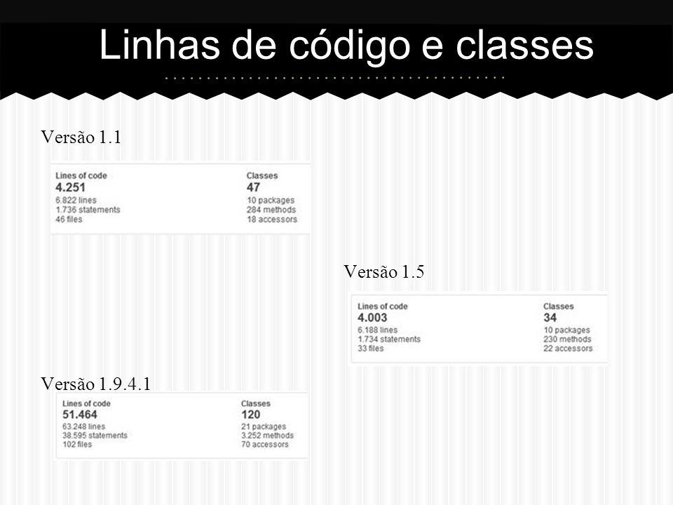 Linhas de código e classes