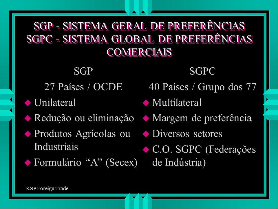Produtos Agrícolas ou Industriais Formulário A (Secex) SGPC