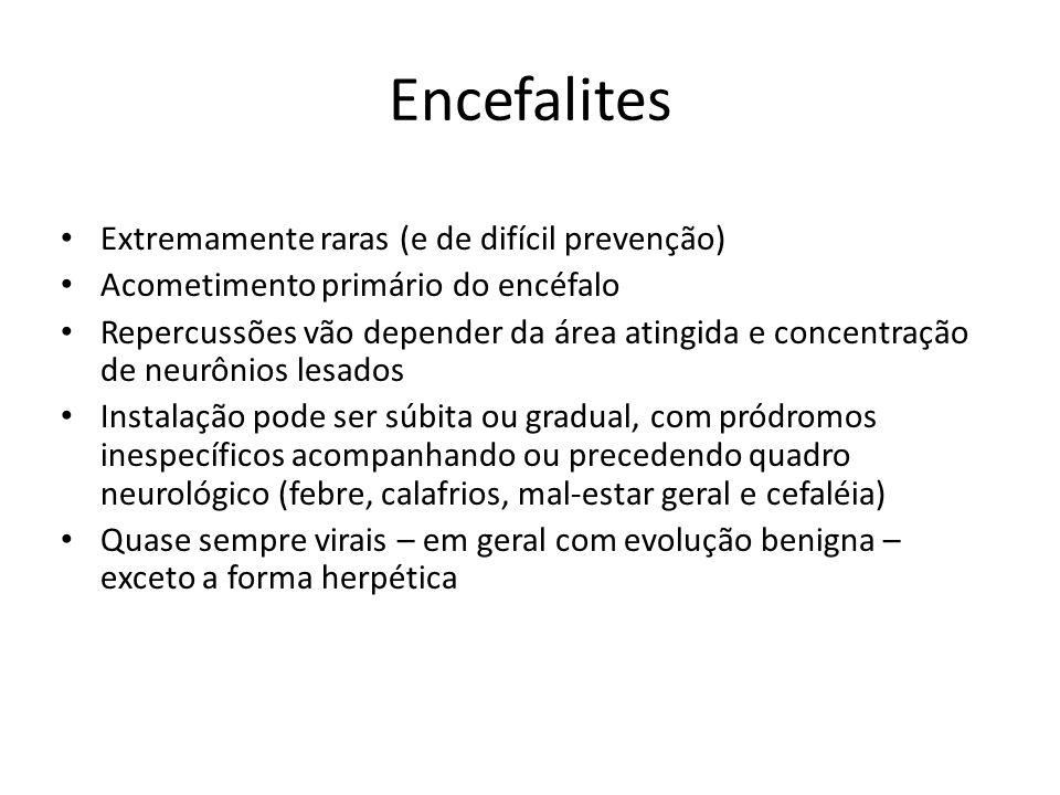Encefalites Extremamente raras (e de difícil prevenção)