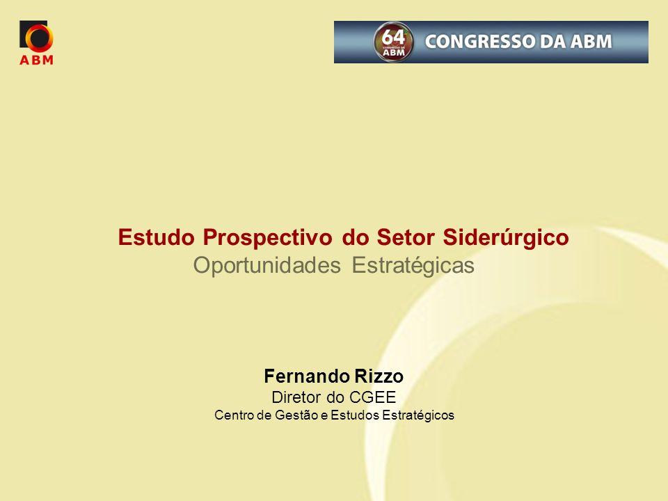 Estudo Prospectivo do Setor Siderúrgico Oportunidades Estratégicas