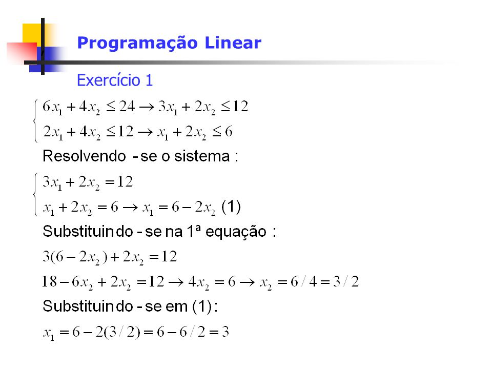 Programação Linear Exercício 1
