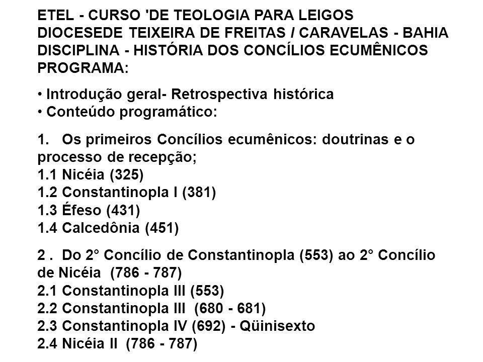ETEL - CURSO DE TEOLOGIA PARA LEIGOS