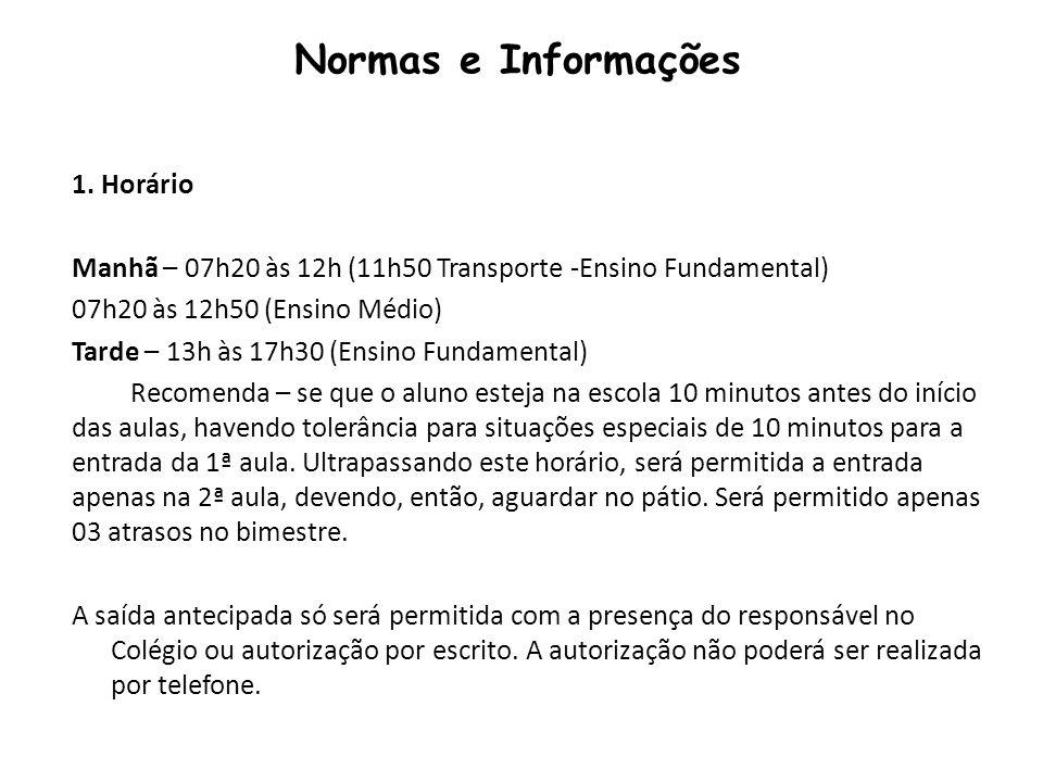 Normas e Informações