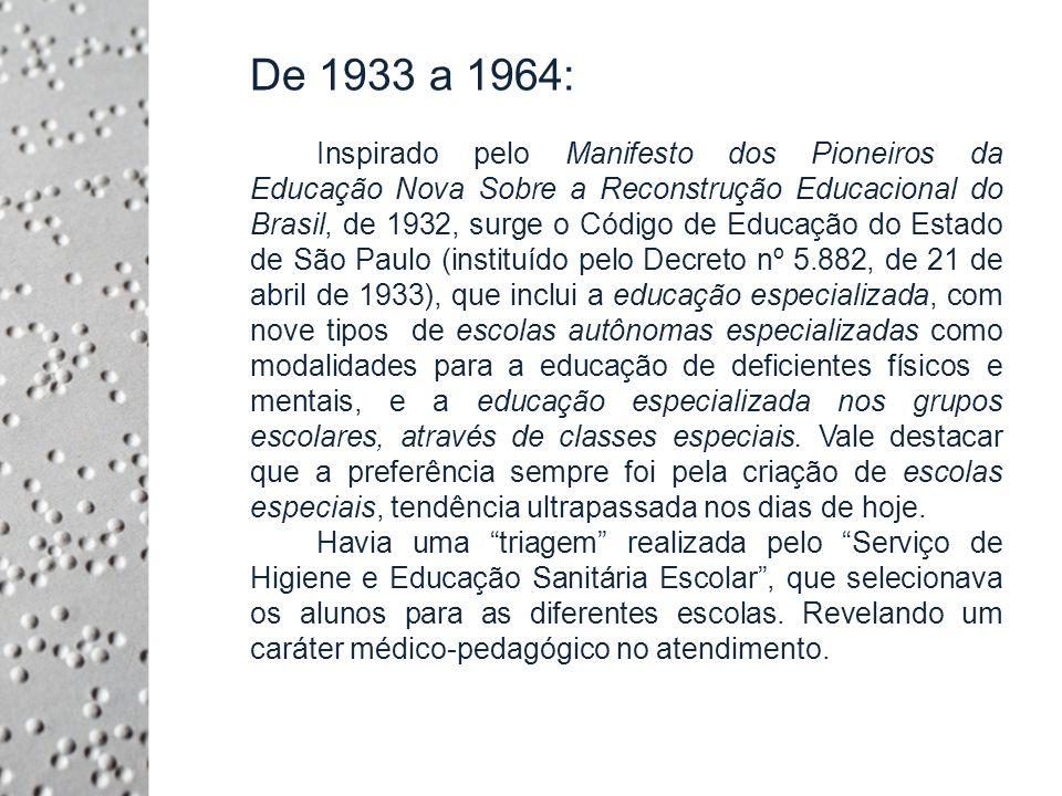 De 1933 a 1964: