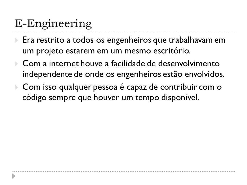 E-Engineering Era restrito a todos os engenheiros que trabalhavam em um projeto estarem em um mesmo escritório.