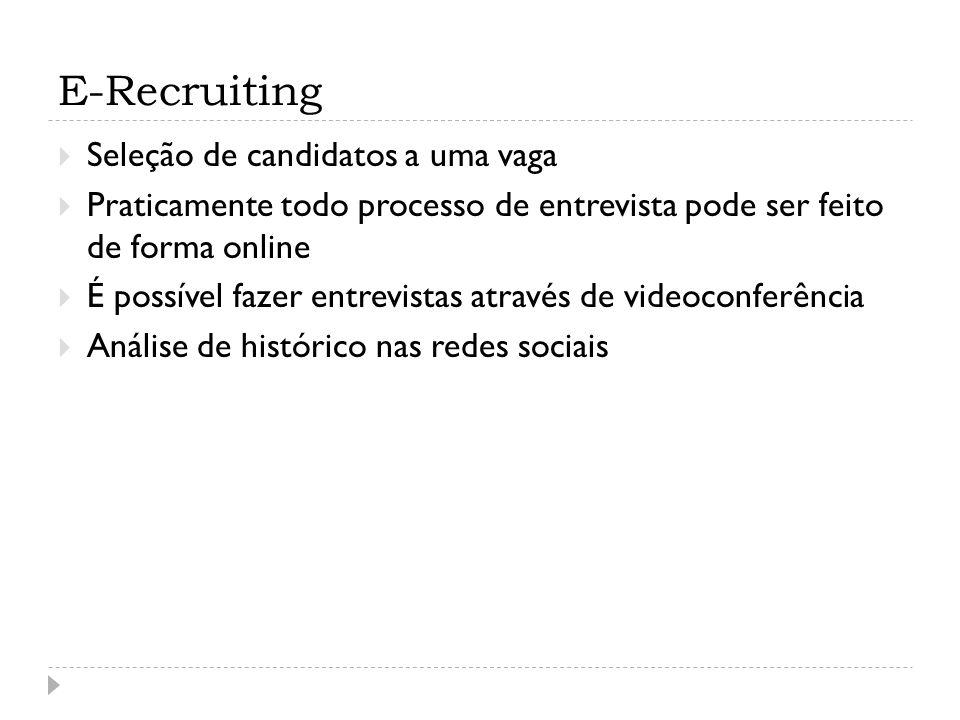 E-Recruiting Seleção de candidatos a uma vaga