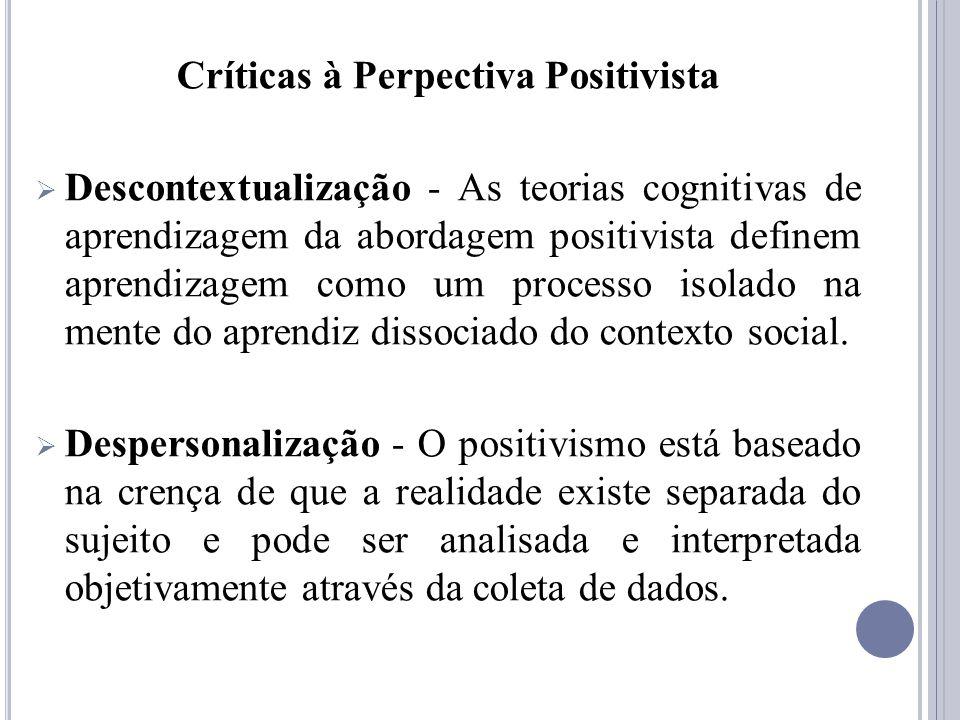 Críticas à Perpectiva Positivista