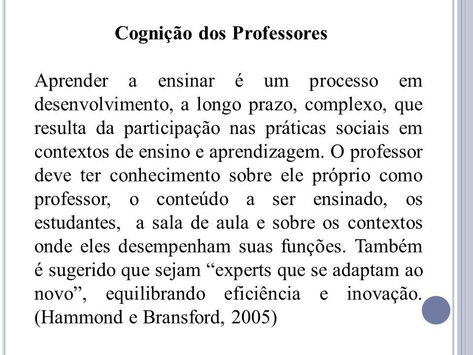Cognição dos Professores