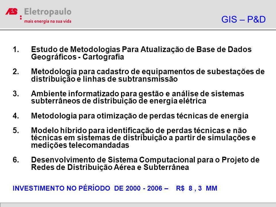 GIS – P&D Estudo de Metodologias Para Atualização de Base de Dados Geográficos - Cartografia.