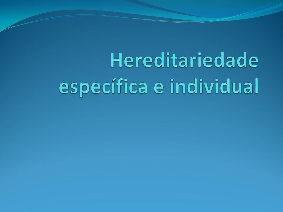 Hereditariedade específica e individual