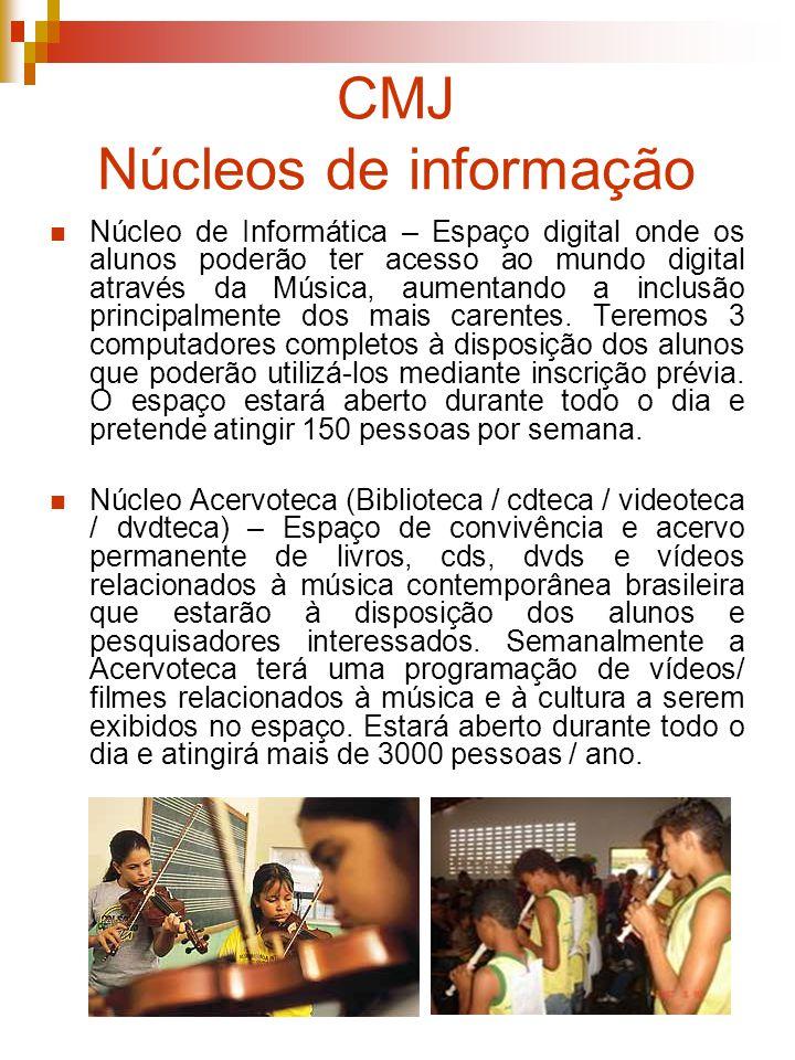 CMJ Núcleos de informação