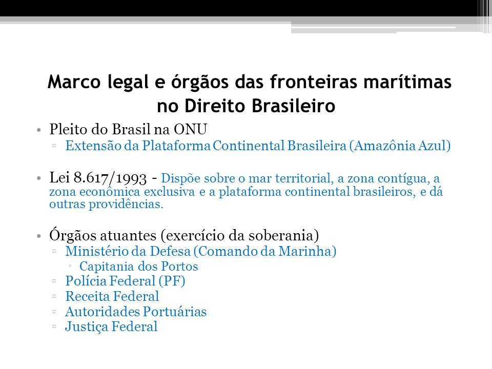 Marco legal e órgãos das fronteiras marítimas no Direito Brasileiro